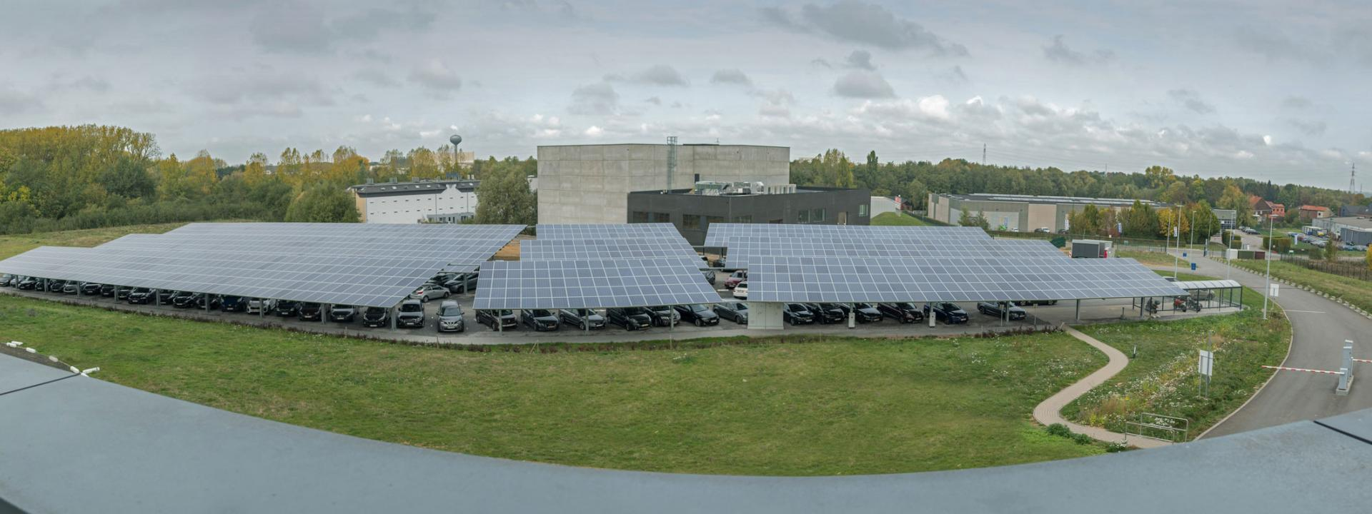 Photovoltaic panels at the AGC Technovation Center (Belgium)