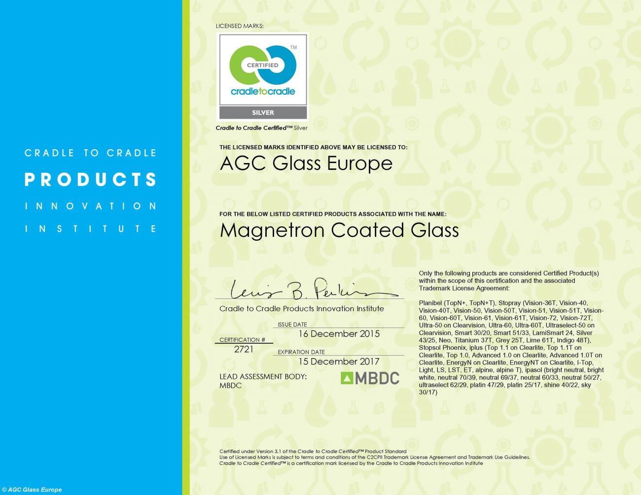 Certification Renewed For Agc Glass Products Under The New More