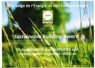 AGC Glass Building bekroond met Sustainable Building Award
