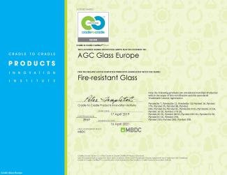 C2C Fire-resistant glass Certificate