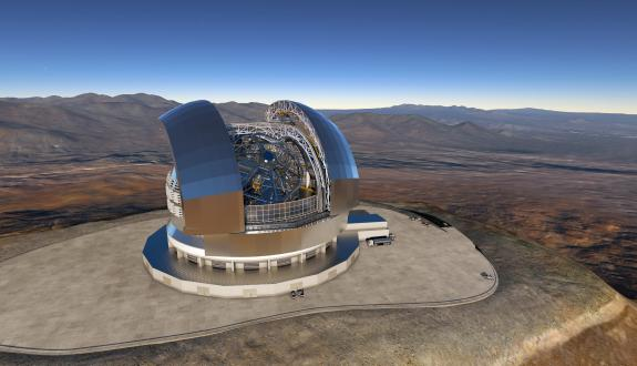 ELT Telescope of the European Southern Observatory in Chili