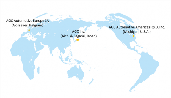 AGC's global tri-polar R&D network